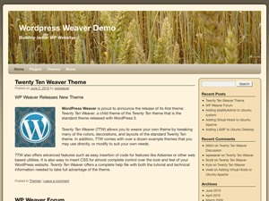 2010 Weaver WordPress website template