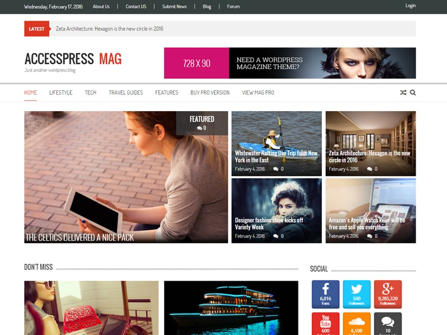 AccessPress Mag best free WordPress theme