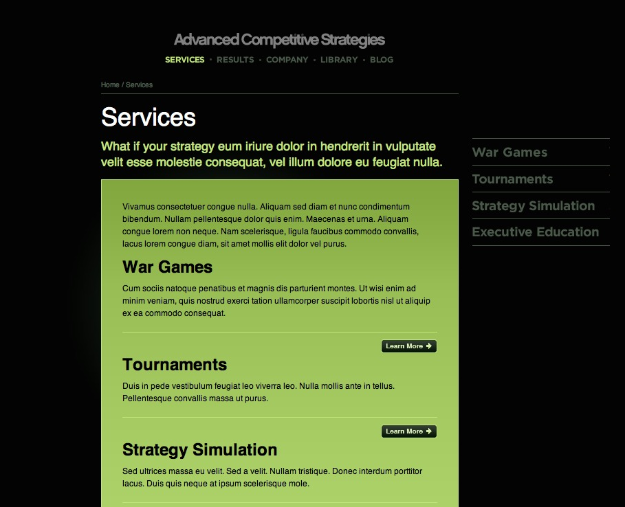 ACS WordPress template