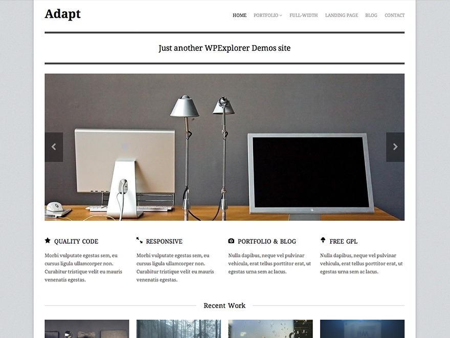 Adapt WordPress blog theme
