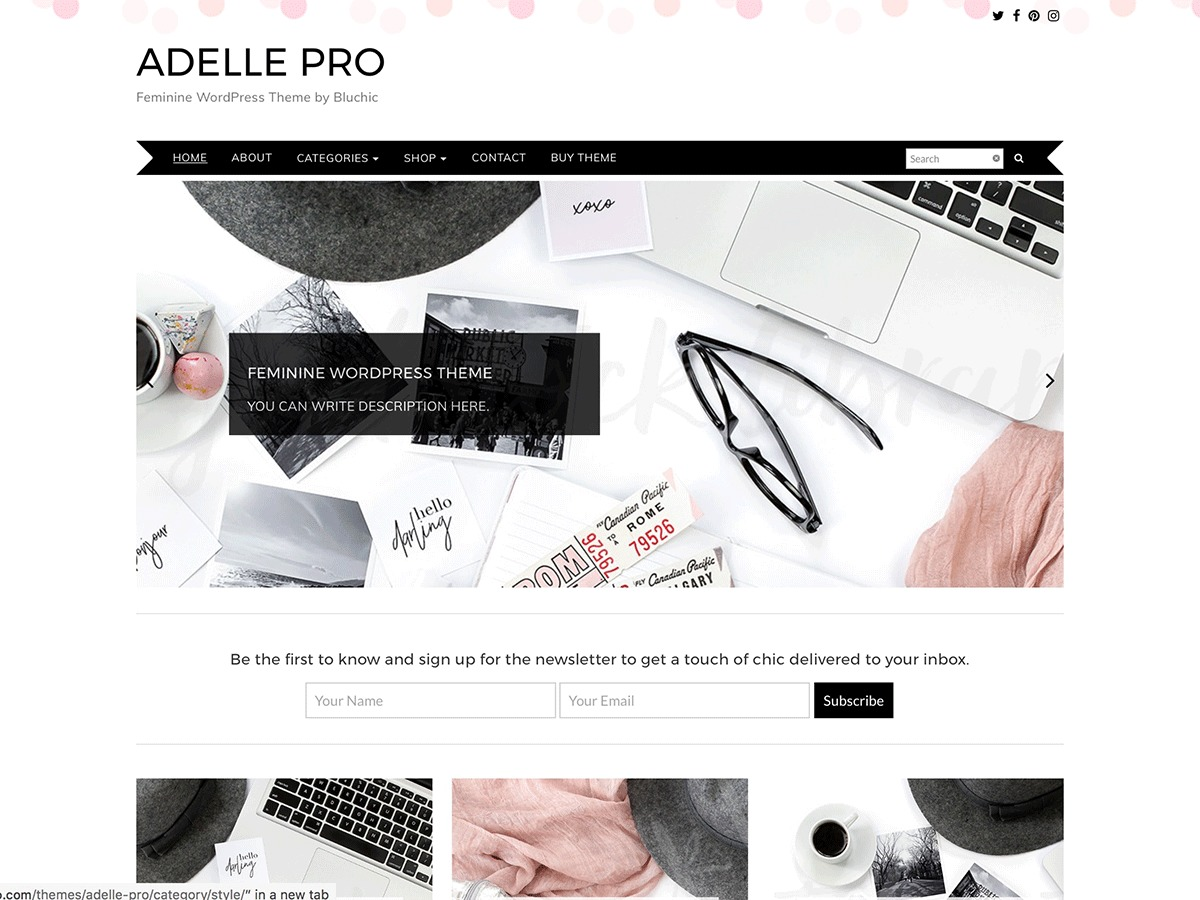 Adelle theme WordPress free