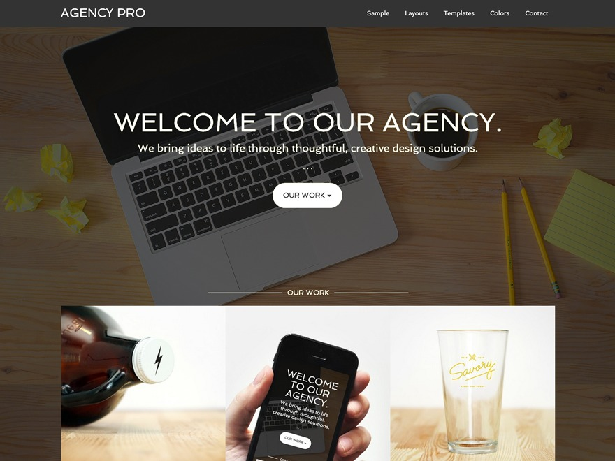 Agency Pro Theme WordPress theme design