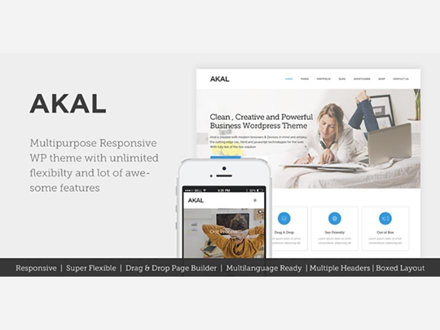 Akal company WordPress theme
