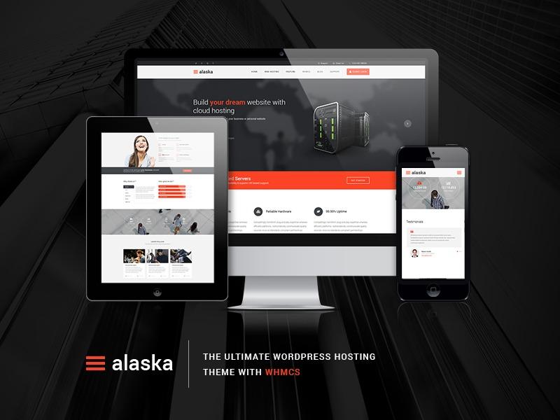 ALASKA company WordPress theme