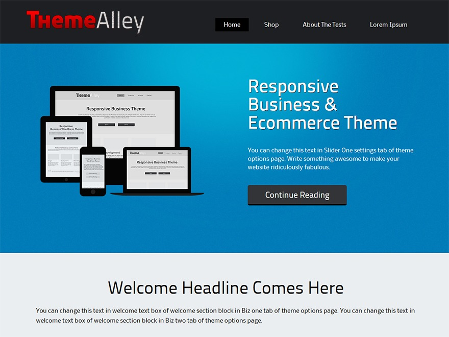 Alexandria free WordPress theme