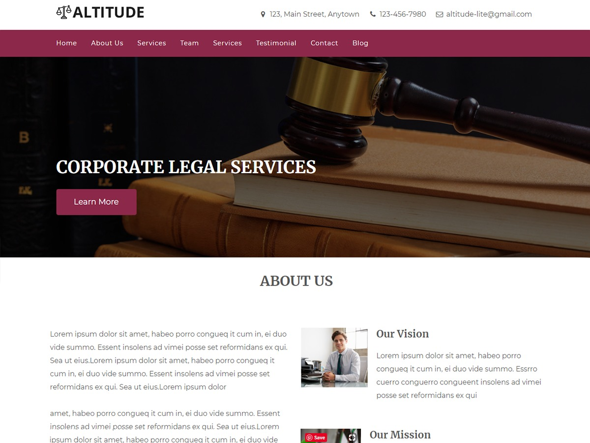 Altitude Lite WordPress theme free download