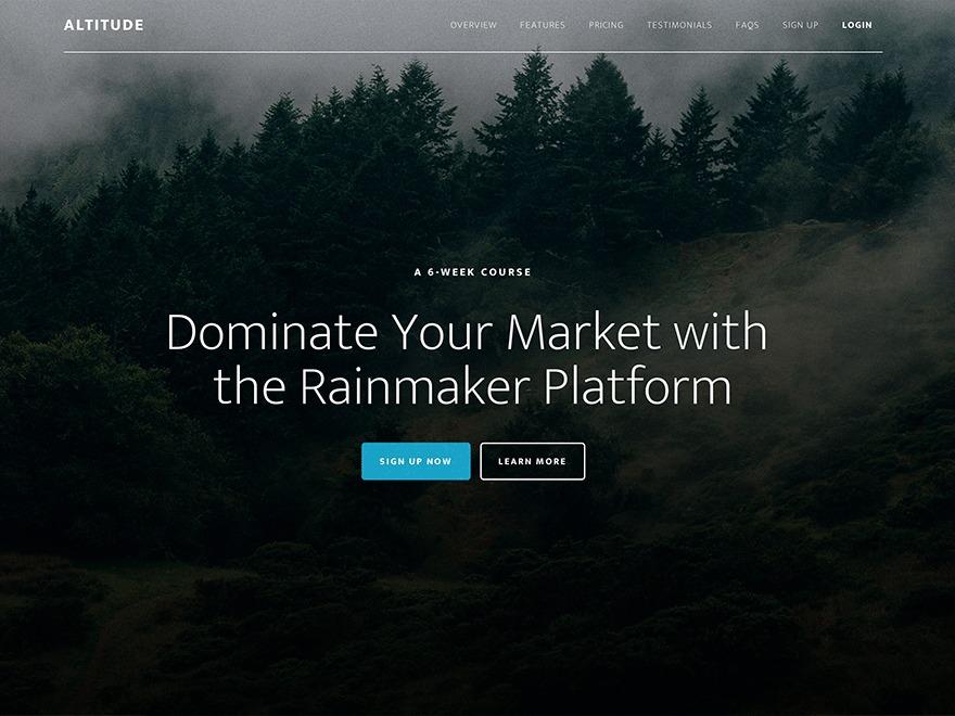 Altitude Pro WordPress gallery theme