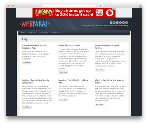 Alyeska personal blog example - webniraj.com
