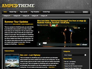 Amped Child Theme theme WordPress