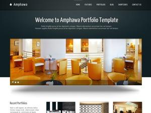 Amphawa WordPress portfolio template