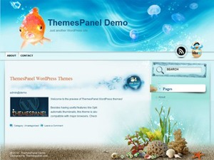 Aqua Blue template WordPress