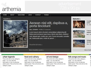Arthemia Premium WordPress template for business