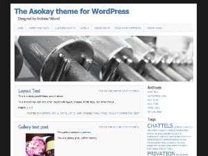 Asokay WordPress blog template