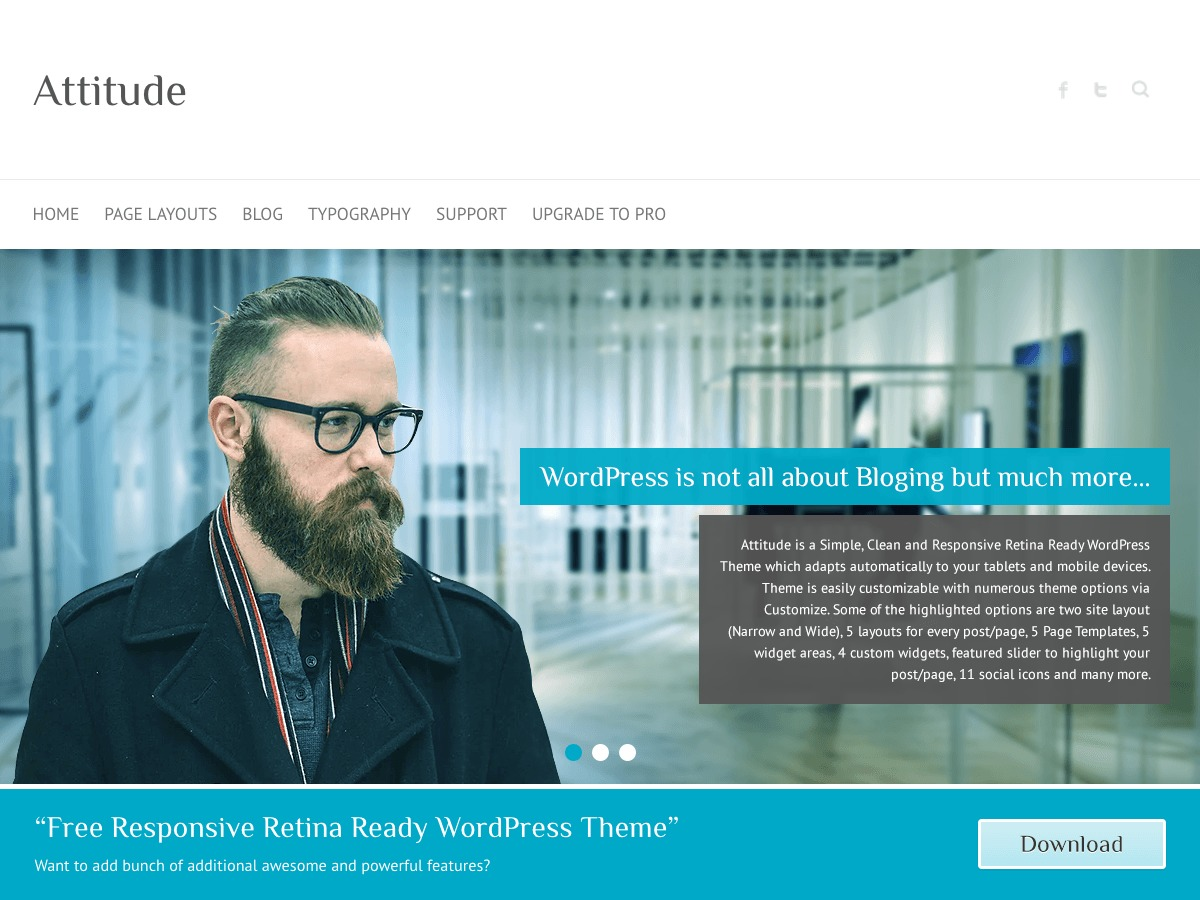 Attitude WordPress theme download