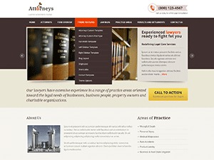 Attorneys business WordPress theme