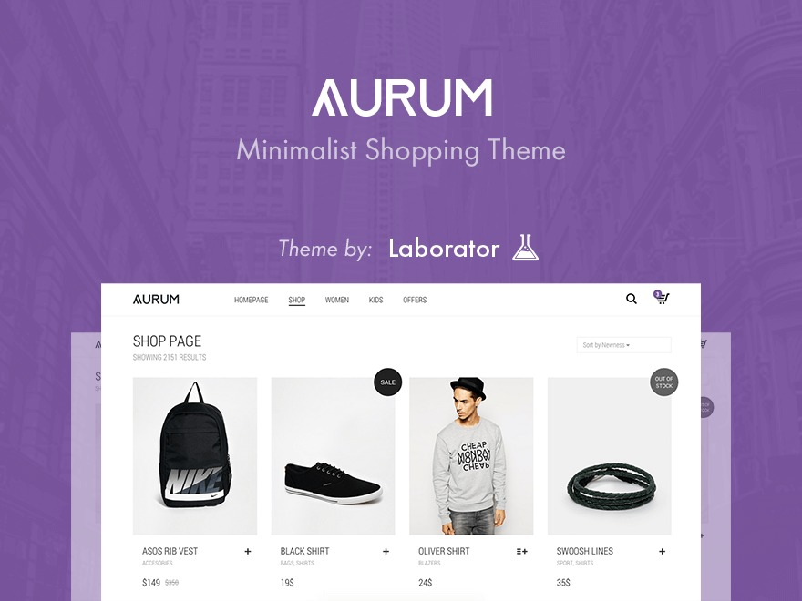 Aurum WordPress ecommerce theme
