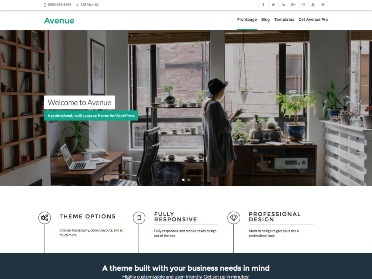 Avenue WordPress theme download