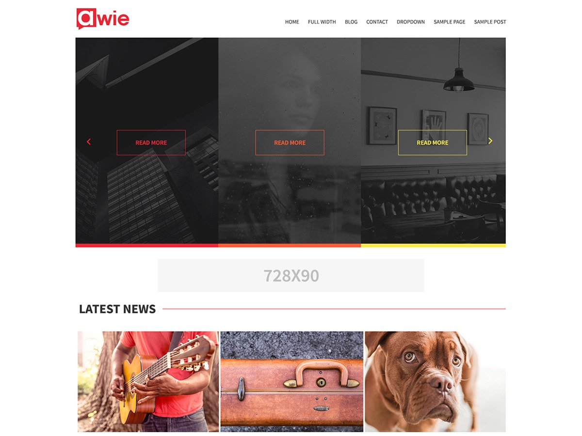 Awie newspaper WordPress theme