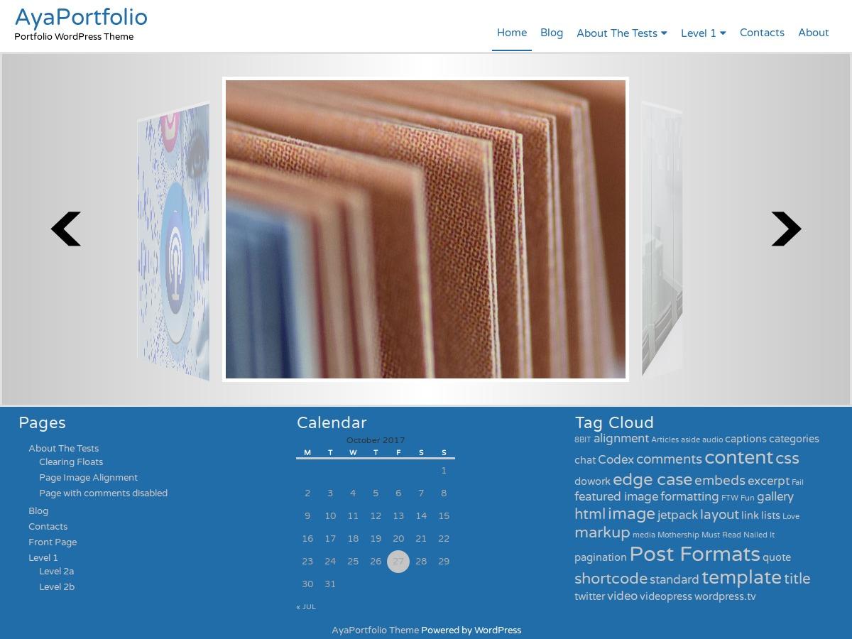 AyaPortfolio WordPress template free download