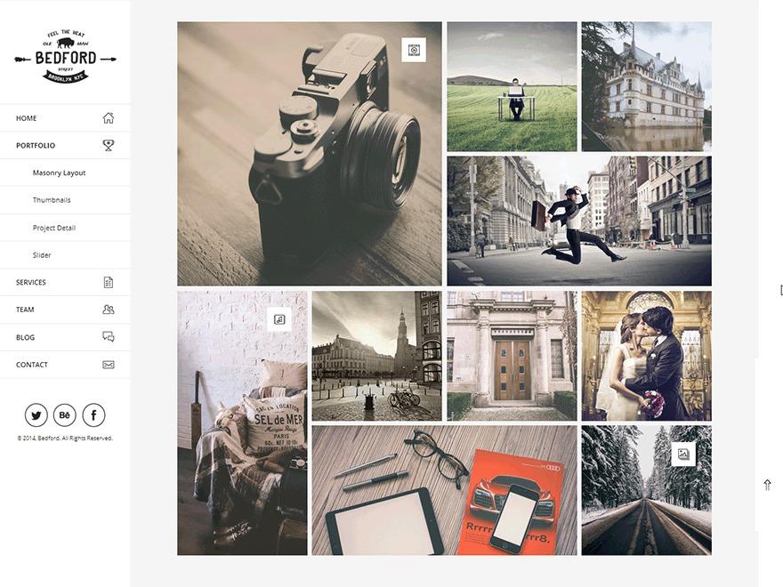 Bedford top WordPress theme