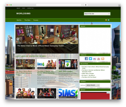 Best WordPress template Arras - worldsims.org