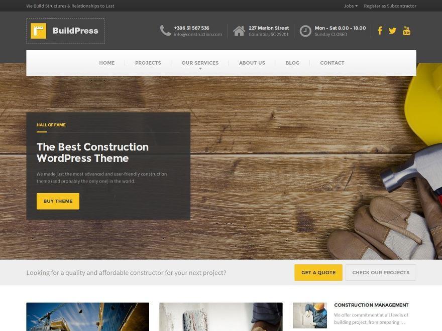Best WordPress template BuildPress WP Theme