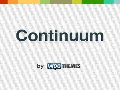 Best WordPress template Continuum