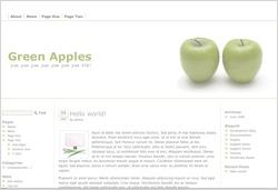 Best WordPress template Green Apples