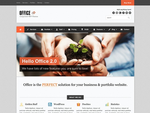 Best WordPress template Office