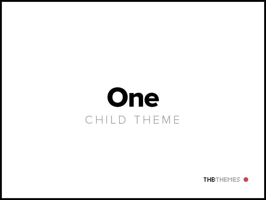 Best WordPress template One Child theme