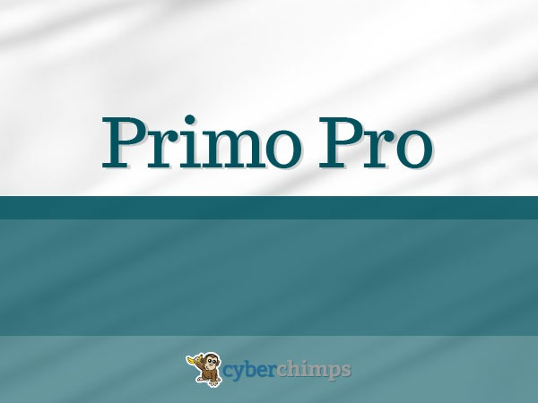 Best WordPress template Primo Pro