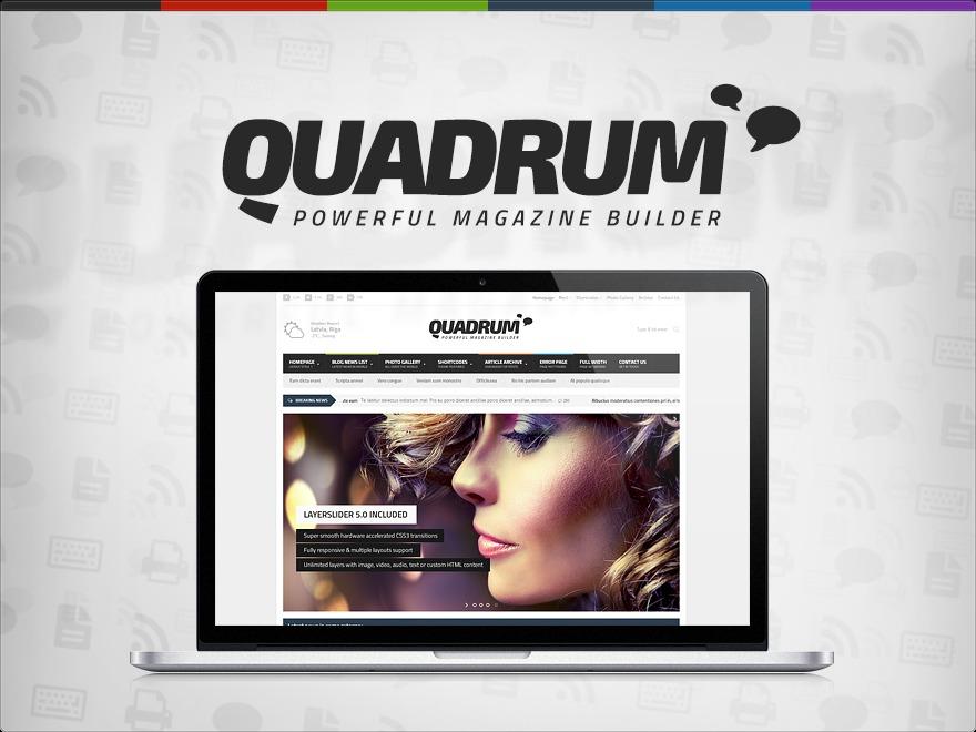 Best WordPress template Quadrum Premium Theme