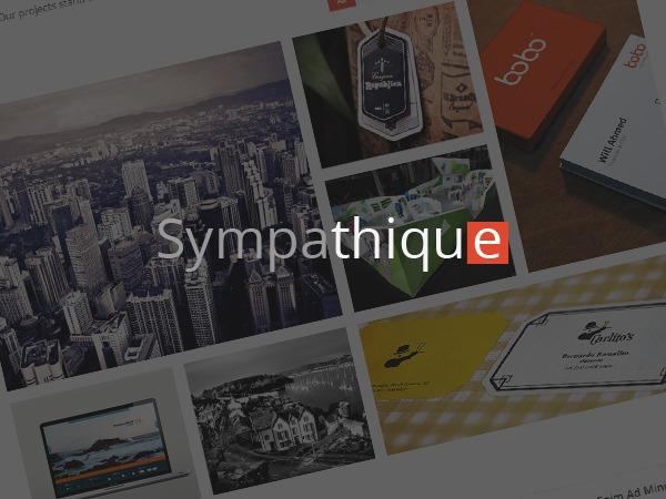 Best WordPress template Sympathique