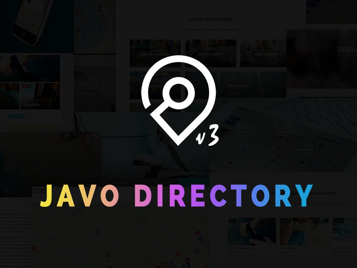 Best WordPress theme Javo Directory