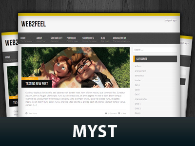 Best WordPress theme Myst