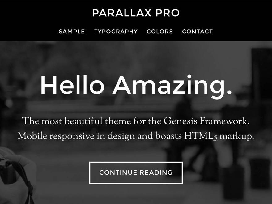 Best WordPress theme Parallax Pro Theme