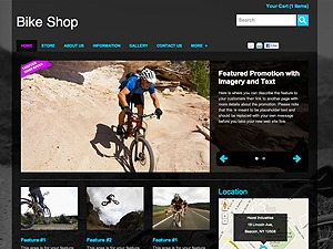 Bike Shop WordPress ecommerce theme