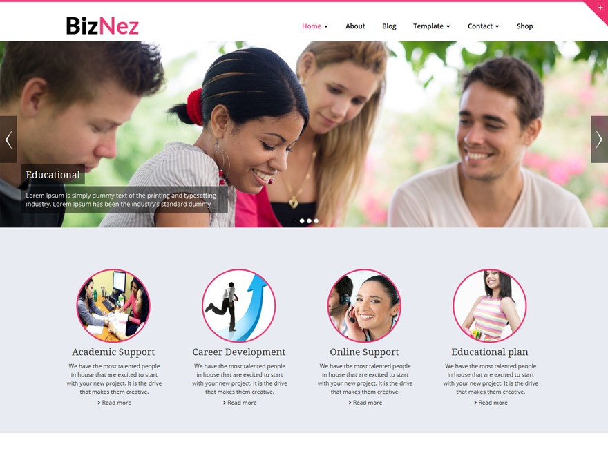 Biznez WordPress theme