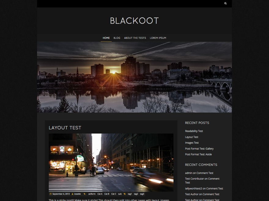 Blackoot Lite company WordPress theme