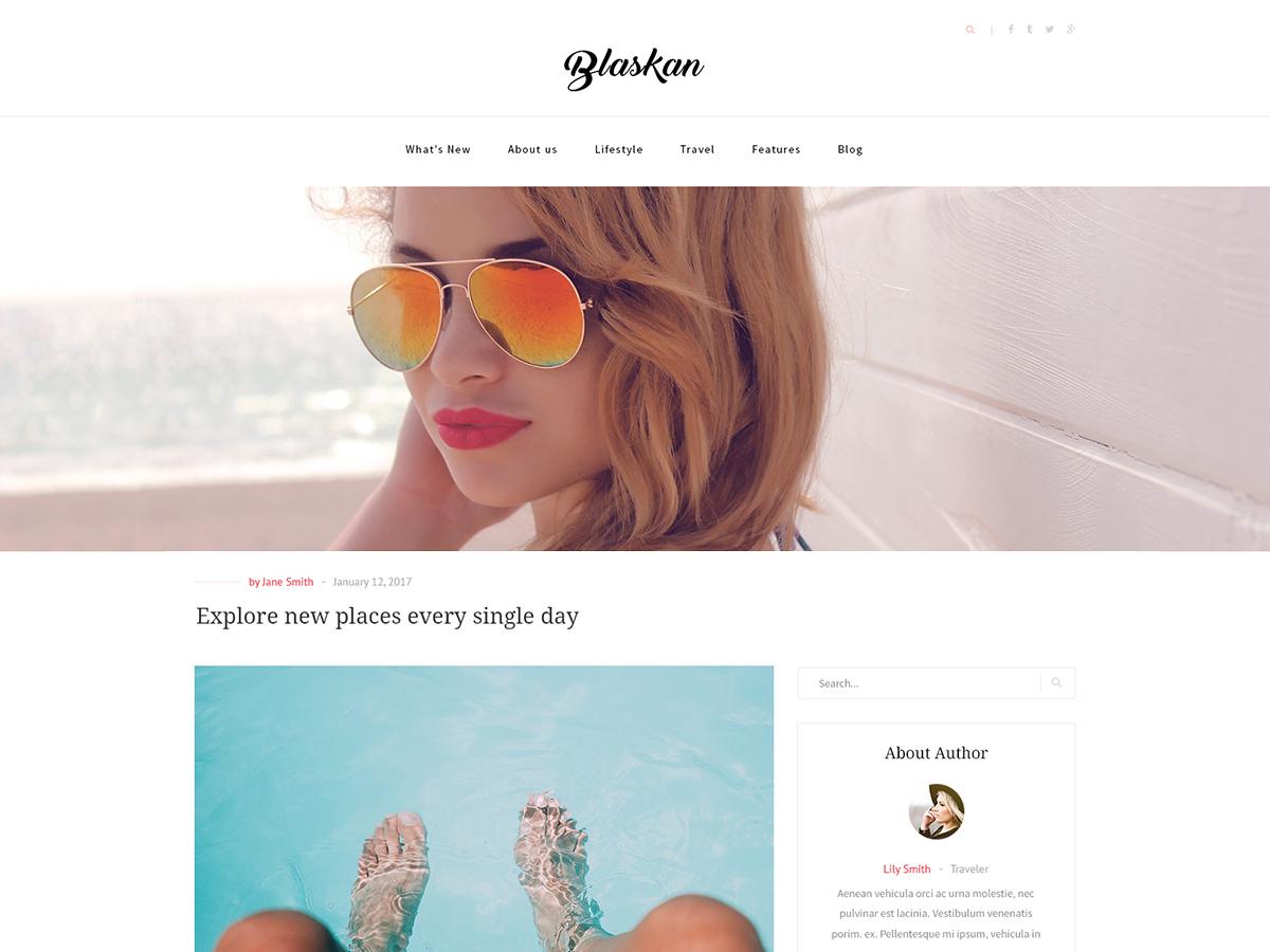 Blaskan best free WordPress theme