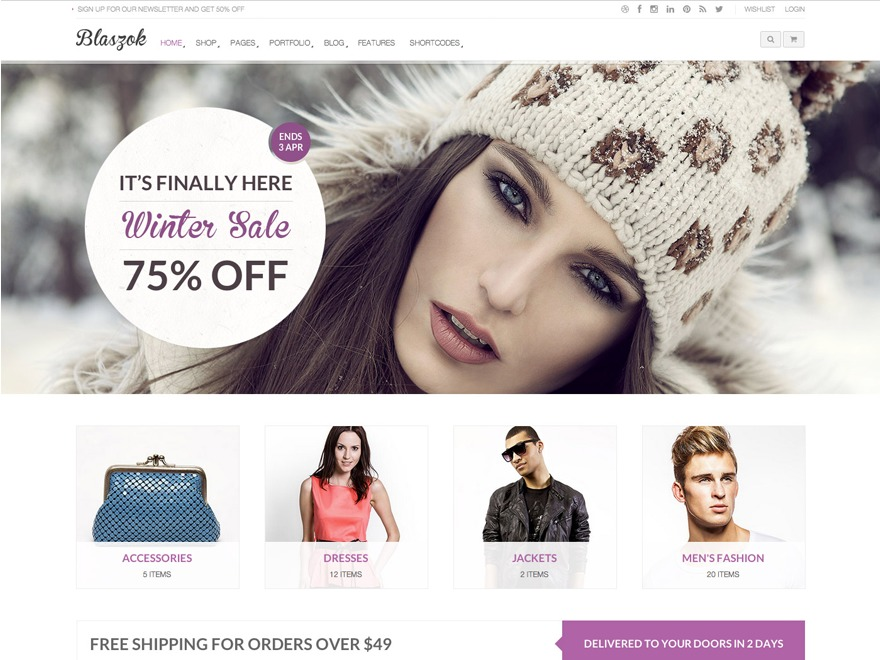 Blaszok best WooCommerce theme
