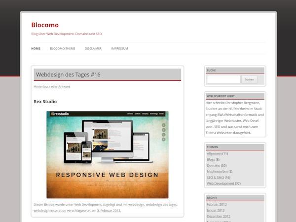 Blocomo theme WordPress