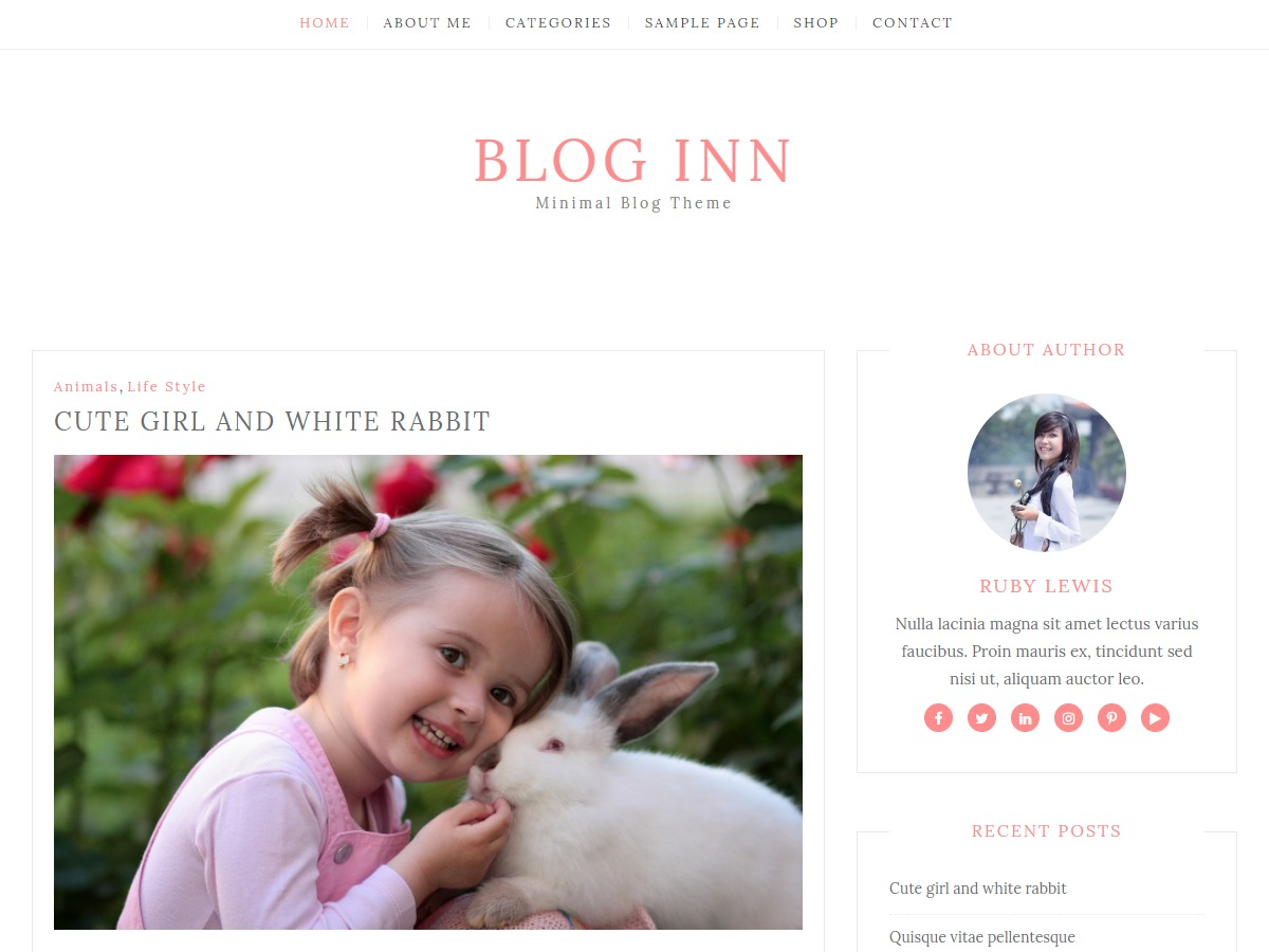 Blog Inn free WordPress theme