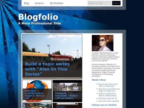 Blogfolio WordPress blog theme