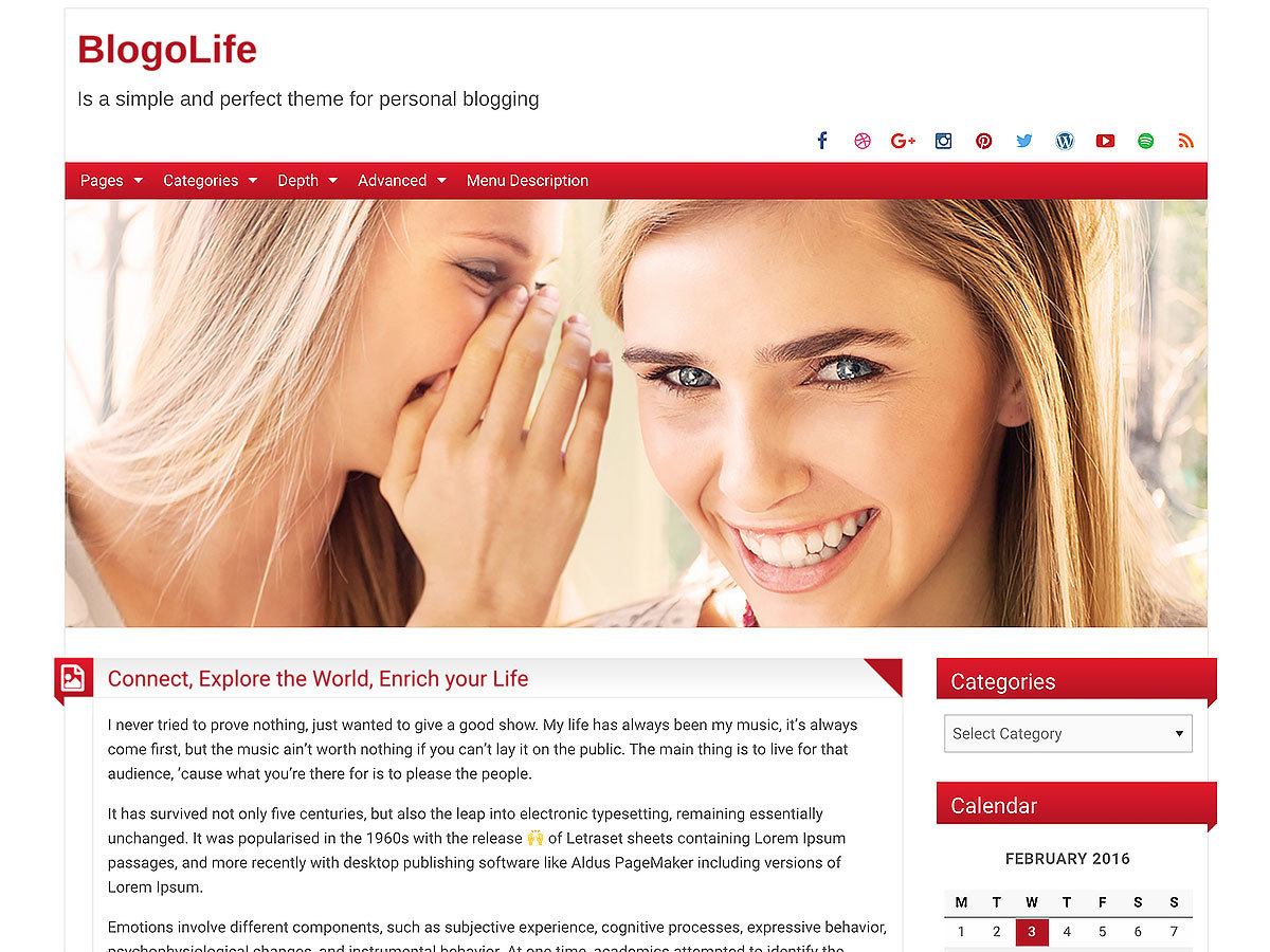 BlogoLife best free WordPress theme