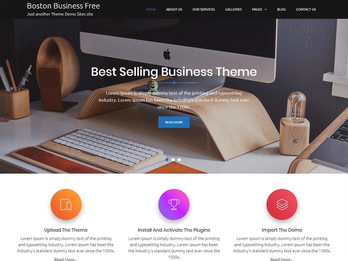 Boston Business WordPress template free download