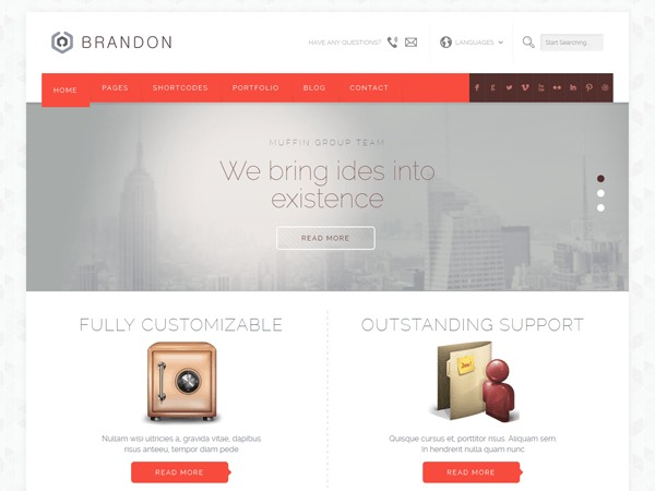Brandon WordPress template