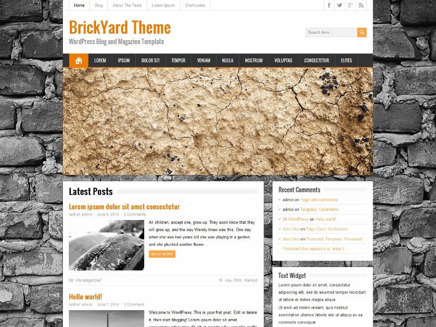 BrickYard WordPress theme free download