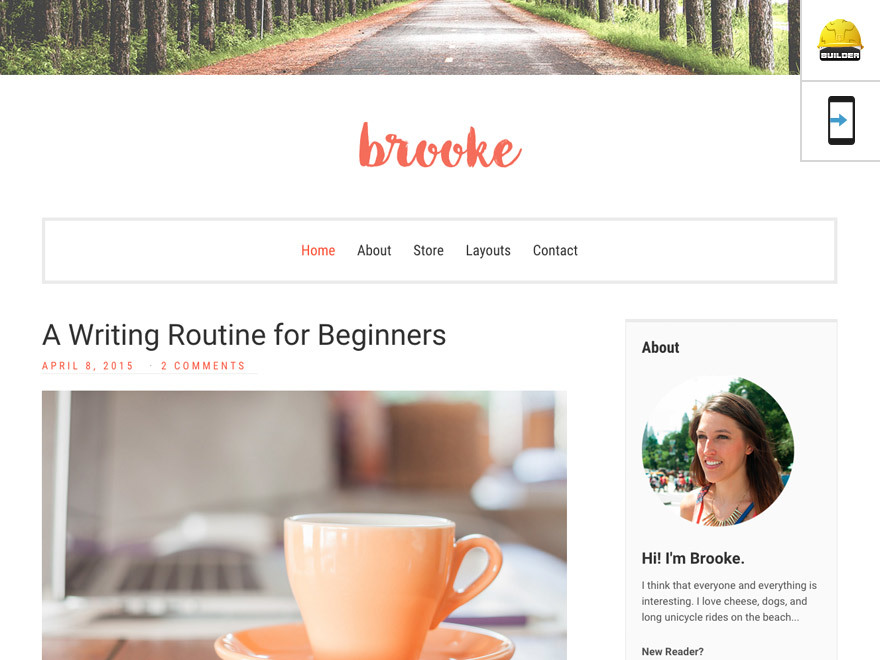 Brooke WP theme