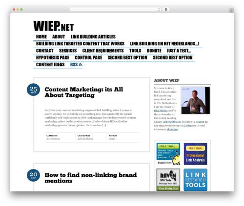 Bueno WordPress blog theme - wiep.net